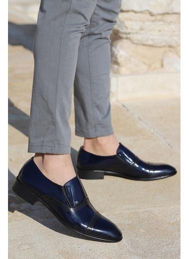 Ayakland Ayakland P545 Rugan %100 Deri Klasik Erkek Ayakkabı Lacivert